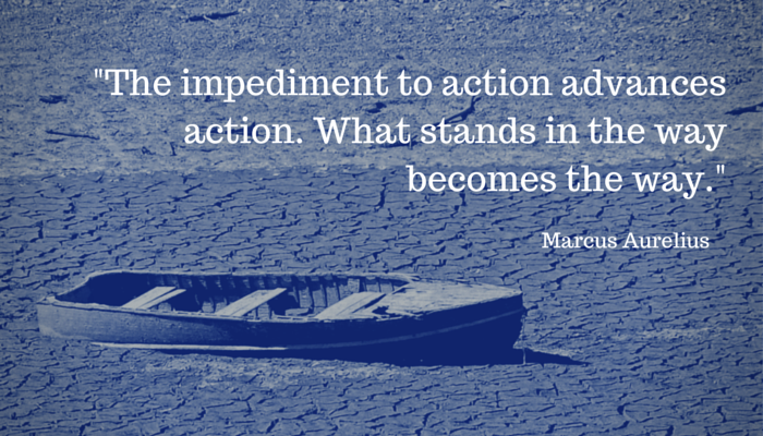 """The impediment to action advances. What stands in the way becomes the way."""